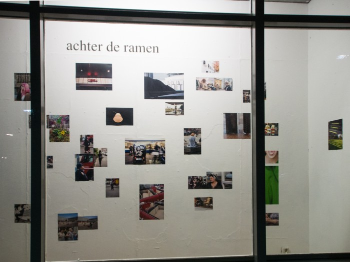 2013 solo-expositie 'achter de ramen' Borneolaan, Asterdam